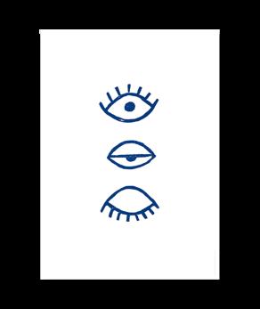 Eye Eye Blå - Poster