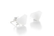 Diamond Acrylic Earrings - Milky