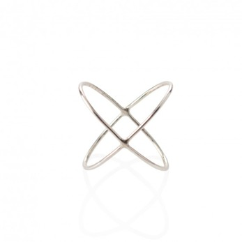 Cross ring - Silver strl 13-14