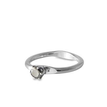 Apple Ring Mellan Pyrit - Strl 17