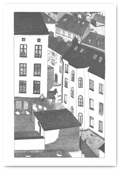Gårdsutsikten - Poster