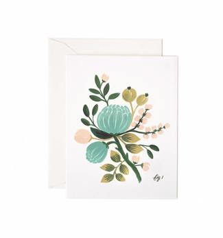Blue floral - Kort