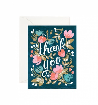 Midnight garden thank you - Kort