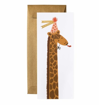 Giraffe birthday - Kort
