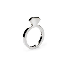 Diamond Silver Ring Slim