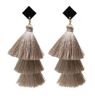 Stacked tassels - Beige