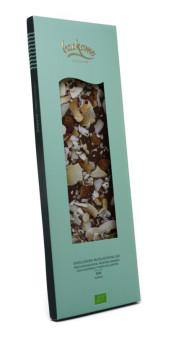 Ekologisk choklad med kokos, mandel och havssalt - Mjölkchoklad