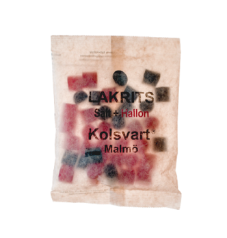 Kolsvart salt + hallon - Saltlakrits