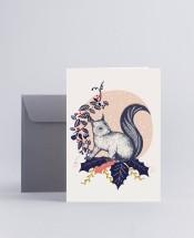 Julkort Squirrel