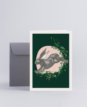 Julkort Rabbit - Mini