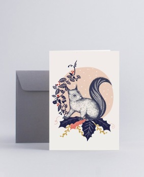 Julkort Squirrel - Mini