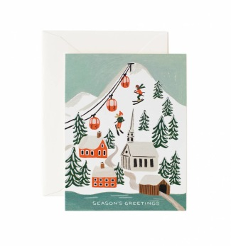 Holiday snow scene - Kort