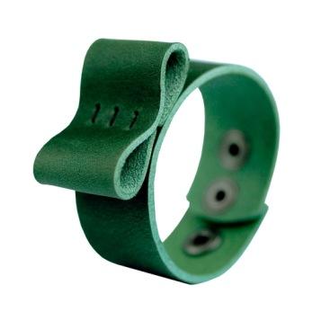 Bracelet Bow, bred - Green Nubuck