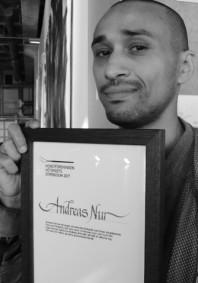 Andreas Nur. Hötorgsstipendiat 2017