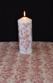 Ljus - Ljus 20 cm Kuxablom röd