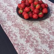 Löpare lin, grått, svart och rött mönster
