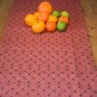 Löpare Kuxablad lin ca 40*140 cm - Löpare Kuxablad orange/svart