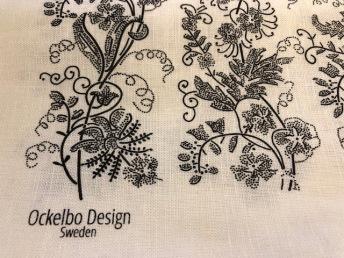Kökshandduk Kuxablom - Kökshandduk Kuxablom vit/svart