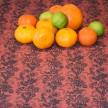 Löpare Kuxablom, lin orange/svart
