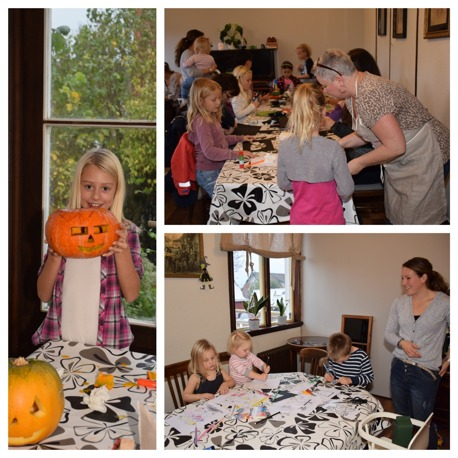 Halloween pyssel på Contan i Båstad
