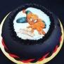 Spiderman oblatbildtårta