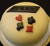 Poker tårta