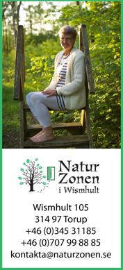 NaturZonen i Wismhult - en grön oas mitt i Hallands vildmark! Fiske, naturupplevelser, boende i stuga och hälsofrämjande behandlingar.