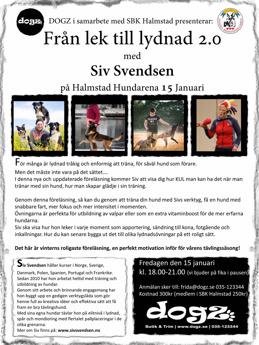 Siv Svendsen i Halmstad Hundarena
