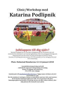 agilitykurs för Katarina Podlipnik i Halland Halmstad Hundarena