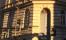 Vår entré på Roslagsgatan 34, med Grundforms fönster till vänster i bild