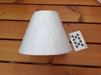 Lampskärmar - Rundlampskärm h14 8,5/18,5 diametermed med Clipon (passar lampfot 20-30 cm hög ca)