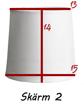 Lampskärmar - Rundcyl lampskärm  med fastbygel liten sockel (passar lampfot 25-35 cm hög ca)