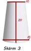 Lampskärmar - Rundhög lampskärm med fastbygel liten sockel (passar lampfot 25-35 cm hög ca)