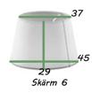 Lampskärmar - Rund lampskärm kan hängas men passar bäst till golvlampa