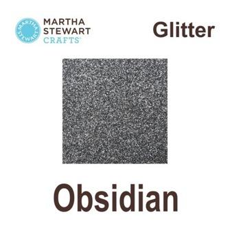 Glitterfärg - Martha Stewart - Martha Stuwart glitterfärg obsidian