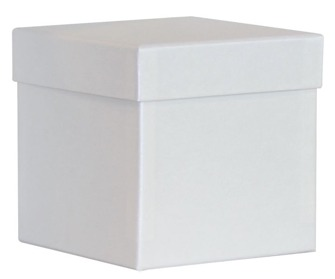 Lyx - Askar i Papp - Regäla 1 st Höga askar, 125x125x125mm  gedigen ask M; i vitt