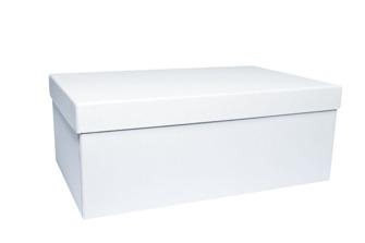 Lyx - Askar i Papp - Regäla 1 st rektangulär ask Large 280x173x108 mm gedigen ask i Vit