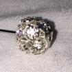 Nålar och Pindekorationer - Diamantbollnål1,5x7cm 1 st