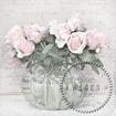 Servetter Styckesvis Sagen - rosor i rundkruka