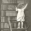 Utförsäljning! Servettpaket sagen - Barn i bibliotek  33*33