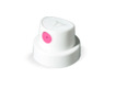 """Verktyg Handtag - Munstycken - 3pk SuperFat white/pink 132 * Stroke width: 6,0 cm Properties: even and clean line Pressure: very high paint output Suitable for: larger sized surfaces - Also known as the """"Pink Fat Cap"""" - Comes as standard cap for the MOLOTOW™ Action sprays (BURNER, Cove"""