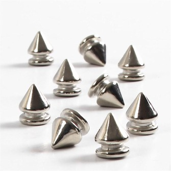 Nitar-Metalliknade - Brads Nitar 40st Silver