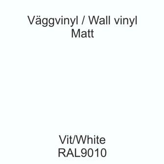 Dekorvinyl - Ickepermanet Väggvinyl - ASLAN - Vinyl Vit 1 meter