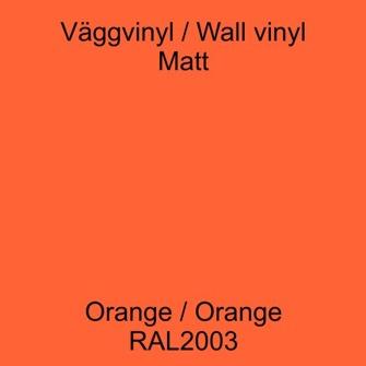 Dekorvinyl - Ickepermanet Väggvinyl - ASLAN - Vinyl orange  1 meter