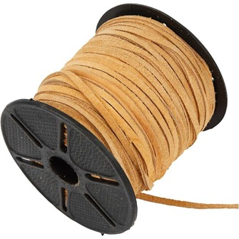 Mockaband - Natur - Mockaband, 4 mm, natur, 1m