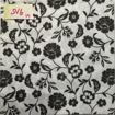 Servetter svarta mönster - Blommor