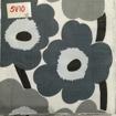 Servetter svarta mönster - Tecknade blommor marimeco