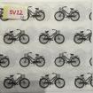 Servetter svarta mönster - cyklar