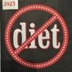 Servetter svarta mönster - No diet