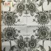 Servetter svarta mönster - Blommor & bin kaffeservett